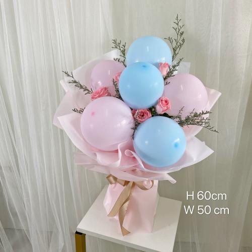 6 balloon bouquet