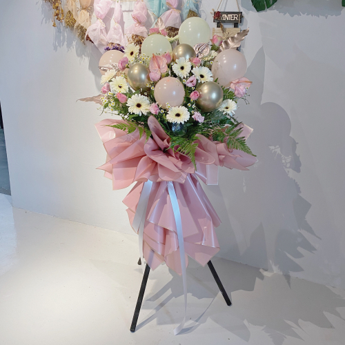 Rose Gold Opening Flower Stand