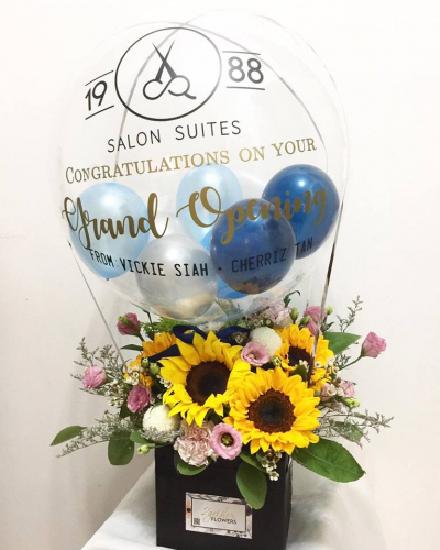 Grand Opening Balloon & Flowerbox