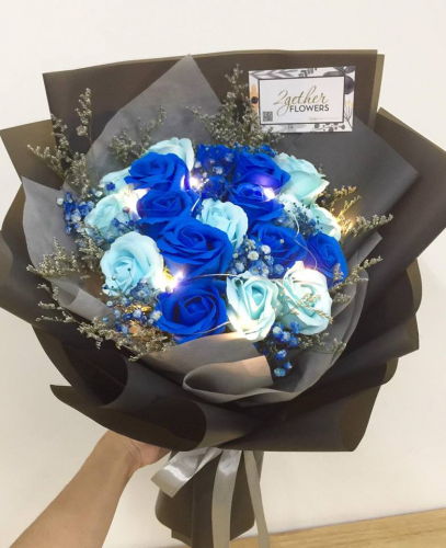 Blue Lagoon Soap Roses