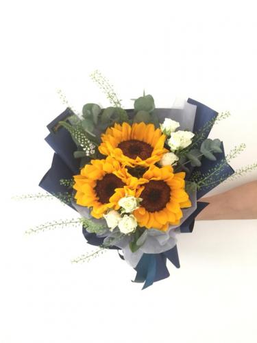 3 stalks sunflowers