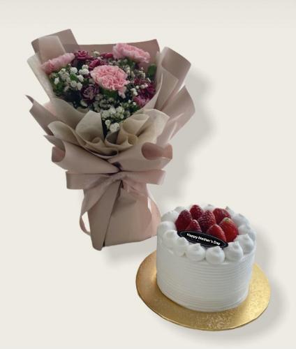 Cake & Carnation Bouquet