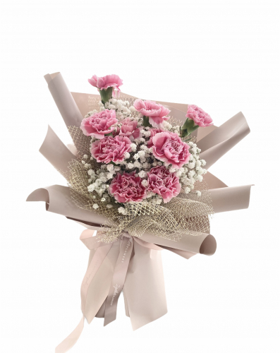 Mother's Day 2021 Lovely Mom Carnation Bouquet (Medium)