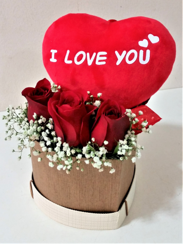 I love u flowers images