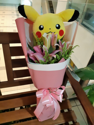 Pikachu Lilies Bouquet