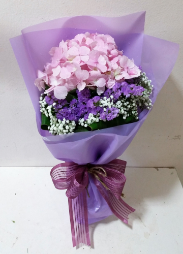 Charming Pink Hydrangeas Bouquet