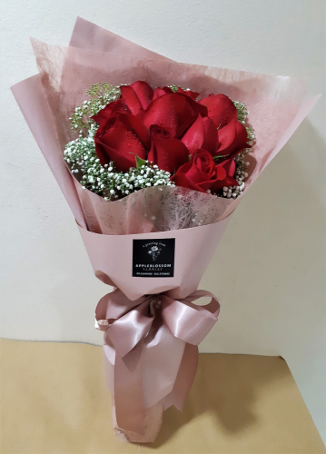 Eternity - Red Roses Pink Design Bouquet