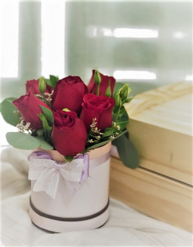 Red Roses with Box