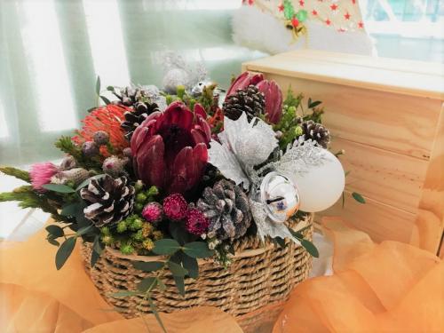 Protea Safari Mix Basket Arrangement