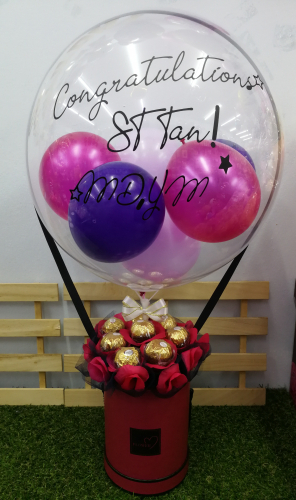 Customize Balloon with Chocolate