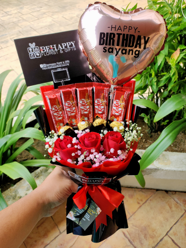 Chocolate Bouquet with Flower