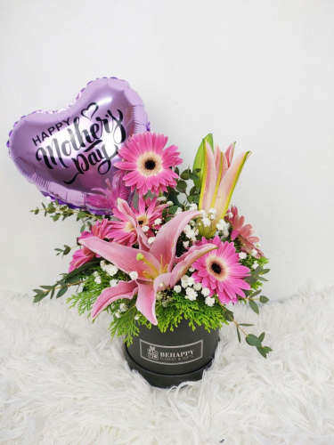 Lily and Gerbera in Box MD02 (Mother's Day 2021)