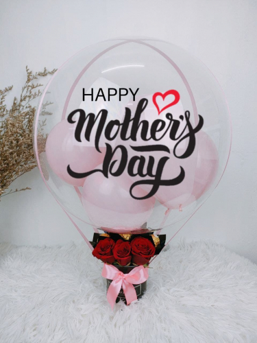 Hot Air Balloon With Rose and Chocolates MD19 (Mother's Day 2021)