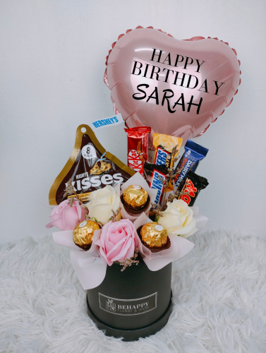 Soap Roses With Mixed Choc in Box