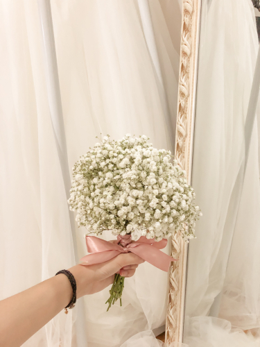 bridal baby breath bouquet