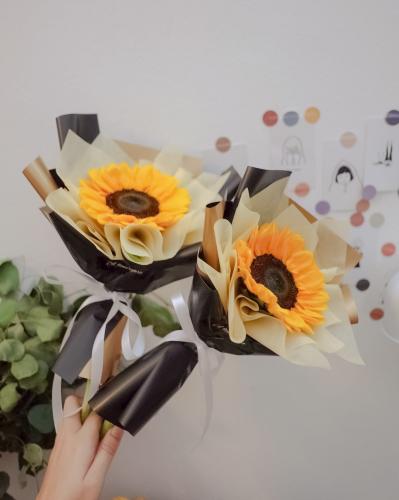 Korean style Single Stalk Sunflower bouquet