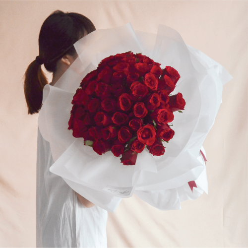 Only You Red Rose Fresh Flower Bouquet (66 Roses)