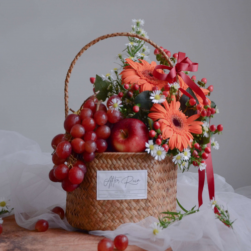 Sunset Fresh Flower Flower & Fruit Basket