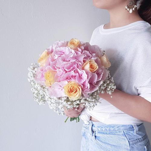 Magic Moment Pink Hydrangea Bridal Bouquet