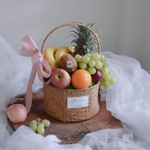 Best Wishes Fruit Hamper Basket