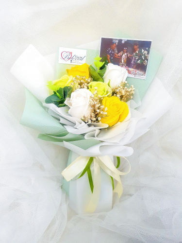 Green Soap Flower Bouquet ~ Nationwide (COURIER DELIVERY)