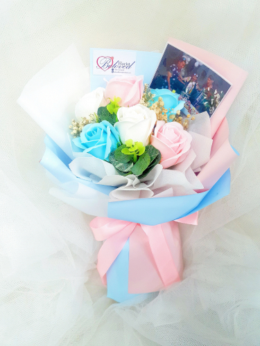 Pink Mix Soap Flower Bouquet ~ Nationwide (COURIER DELIVERY)