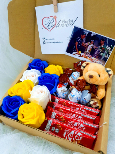 Soap Rose Chocolate Suprise Gift Box 05 ~ Nationwide (COURIER DELIVERY)