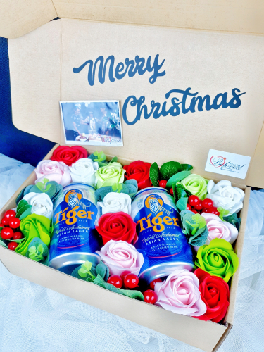 Soap Rose With Beer Gift Box