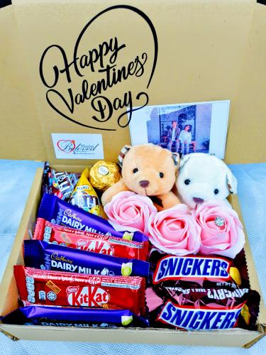 Valentine Teddy Bear Surprise Gift Box