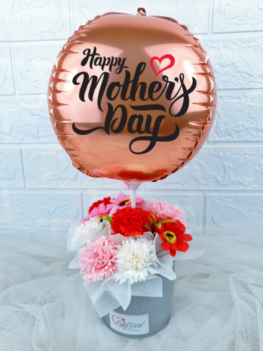Soap Carnation Hot Air Balloon - MM005 (Mother's Day)