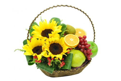 Flowers & Fruits Basket 01