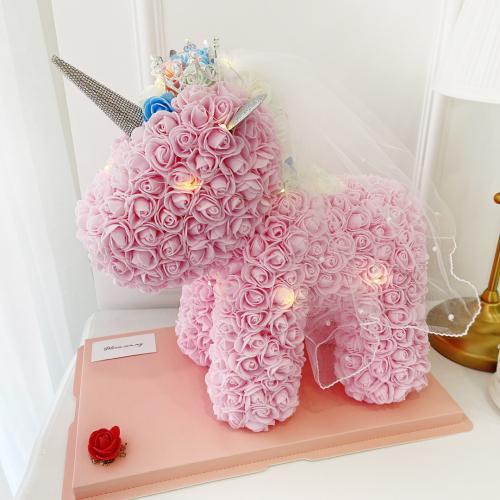 Pink Rose Unicorn