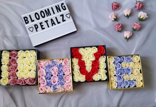 Customize Initial Soap Flower