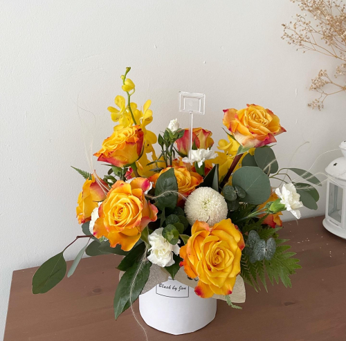 Garden style Yellow Roses Box
