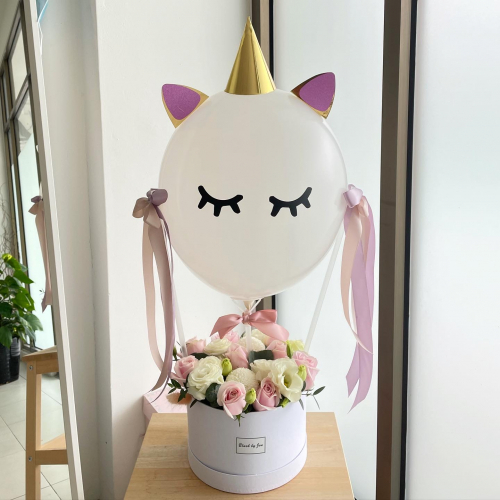 Unicorn Balloon Flower Box