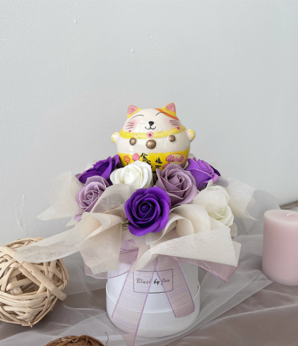 Meow Meow Soap Flower Box