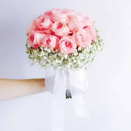 LOVE MOMENT : BRIDAL BOUQUET + CORSAGE PACKAGE