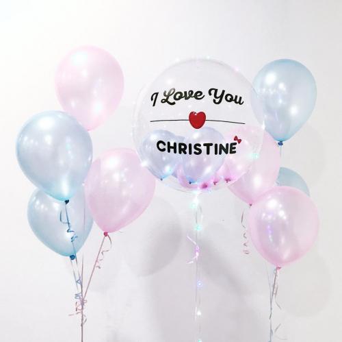 Personalized Helium Balloon Set