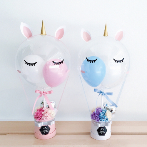 UNICORN TWINKLE : BALLOON & FLOWER BOX