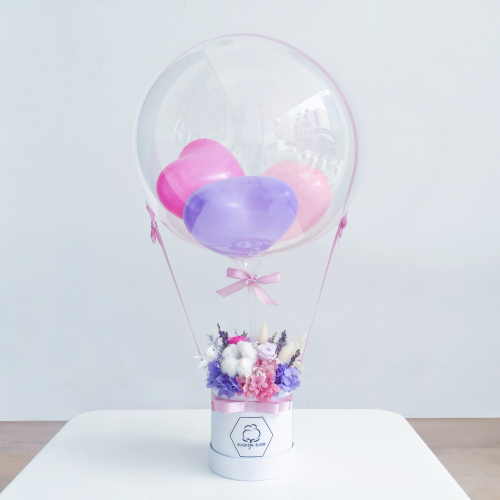 SWEET LOVE : BALLOON & FLOWER BOX
