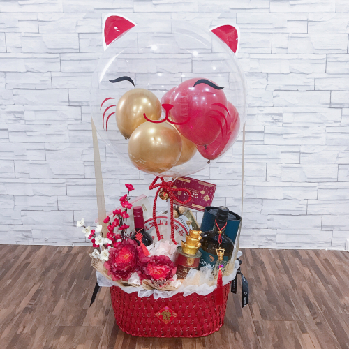 MANEKI-NEKO 招き猫: BALLOON & FLOWER BASKET