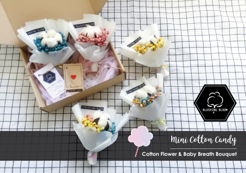 MINI COTTON CANDY : MINI GIFT BOX BOUQUET