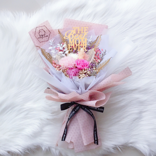 LOVEY DOVEY : PRESERVED FLOWER BOUQUET