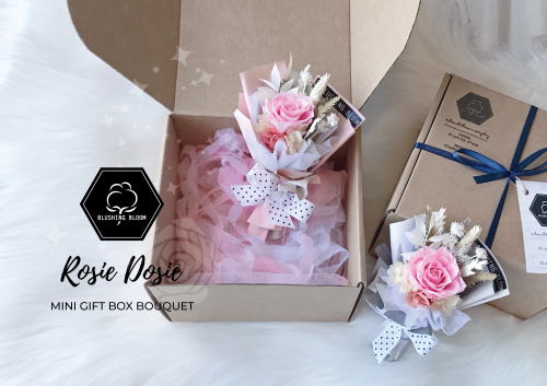 MINI ROSIE DOSIE : MINI GIFT BOX BOUQUET