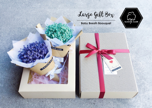 BABY'S BREATH : LARGE GIFT BOX BOUQUET