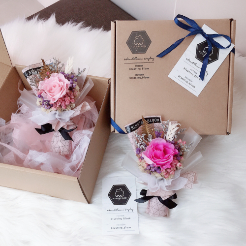 MOTHER'S DAY SPECIAL : MINI LOVEY DOVEY GIFT BOX BOUQUET