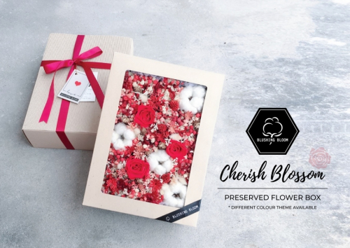 MOTHER'S DAY SPECIAL : CHERISH BLOSSOM PRESERVED FLOWER GIFT BOX