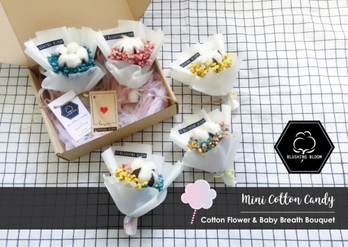 FATHER'S DAY SPECIAL : MINI COTTON CANDY GIFT BOX BOUQUET