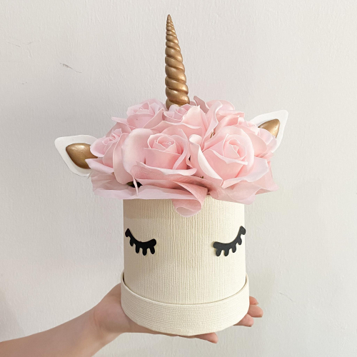 Audrey Unicorn Soap Flower Box
