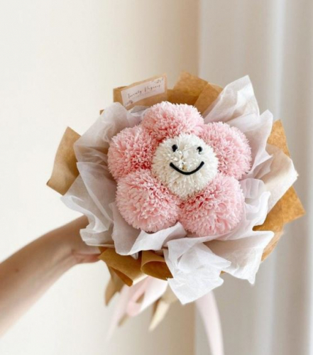Smiley Soap Flower Bouquet